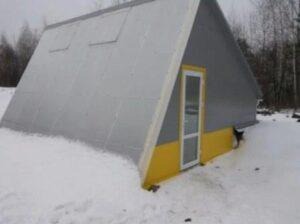 поликарбонатная зимняя теплица