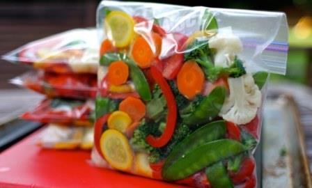заготовки из тепличных овощей - заморозка
