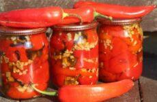 Заготовки из тепличных перцев